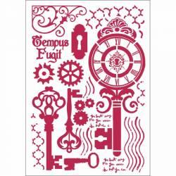 Stencil G méret 21 x 29,7 cm - Kulcsok és zárak