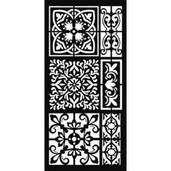 Stencil TD méret 12x25 cm/ 0,5 mm - Csempeminta