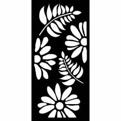 Stencil TD méret 12x25 cm/ 0,5 mm - Virágok és levelek