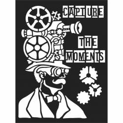 Vastag stencil 15x20 cm - Capture the moments