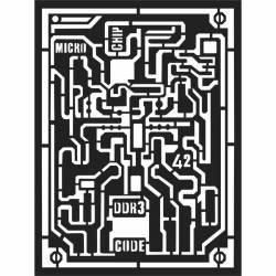 Vastag stencil 15x20 cm - Microchip