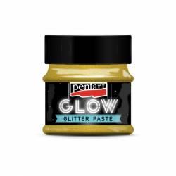 Glow glitter gél 50 ml arany