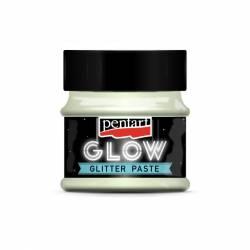 Glow glitter gél 50 ml szivárvány kék