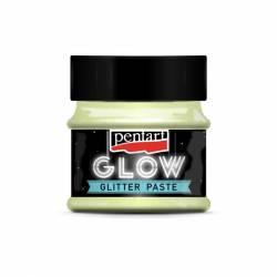 Glow glitter gél 50 ml szivárvány zöld
