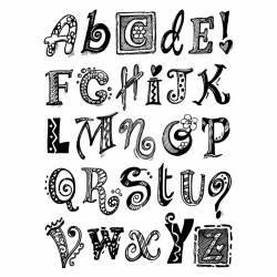 Pecsételő készlet betűk és jelek