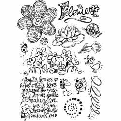 Pecsételő készlet virágok