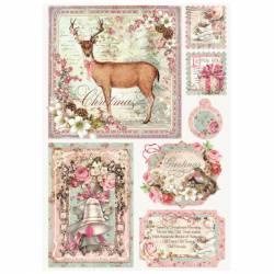 Dekupázs rizspapír A4 csom. - Sweet Christmas Cards